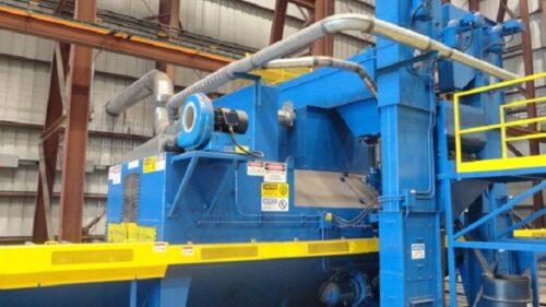 Wheel Blast Roll Conveyor System