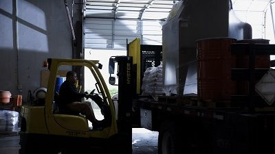 SurfacePrep Employee Loading Delivery Truck